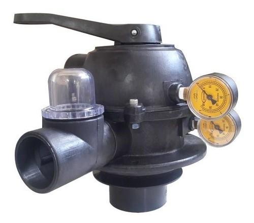 Válvula Seletora Jacuzzi para 2 manometros para piscinas (Não acompanha manometros)