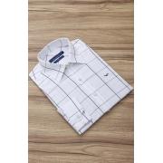 Camisa Di Sotti Slim Branco Xadrez Quadriculado