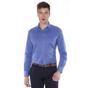 Camisa Di Sotti Slim Fil a Fil Fio 60 Azul