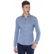 Camisa Di Sotti Slim Fit com elastano Azul