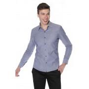 Camisa Di Sotti Slim Fit com elastano  Marinho