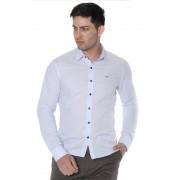 Camisa Di Sotti Slim Listra Azul  Clássico