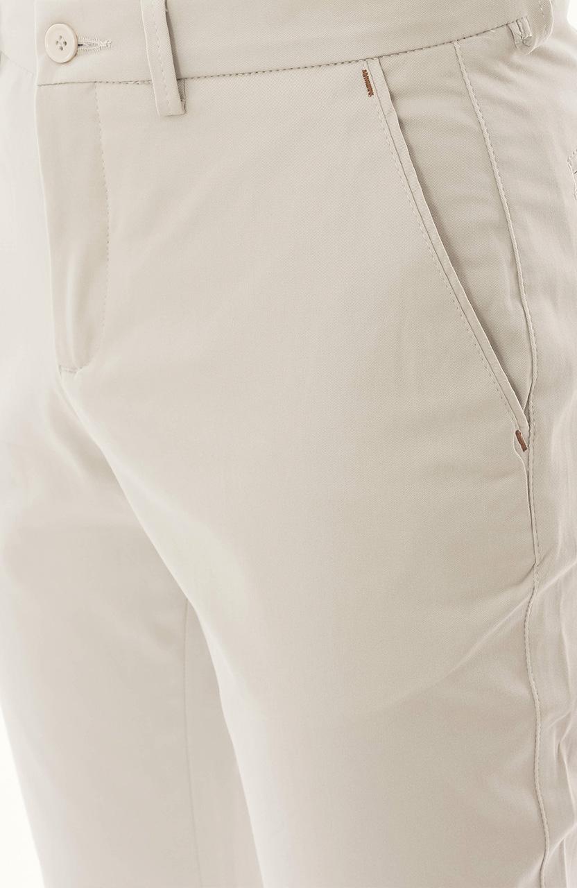 Calça Di Sotti Slim Sarja Marfim