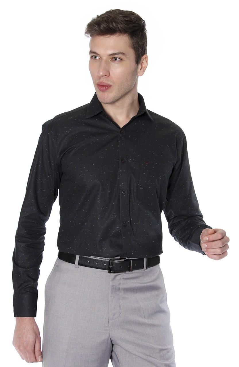 Camisa Di Sotti Comfort Botone Preto