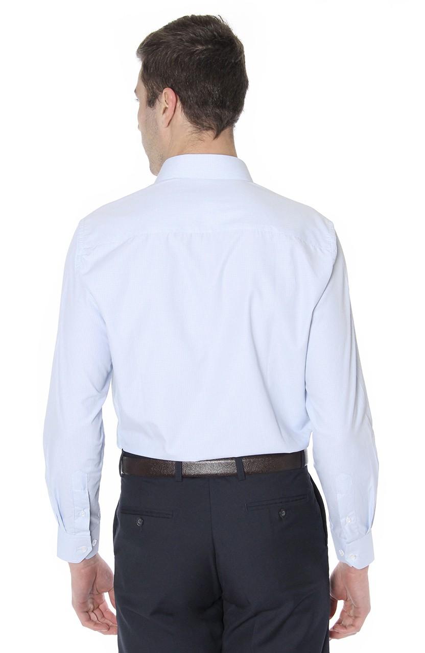 Camisa Di Sotti Comfort Enzo Azul Clássico