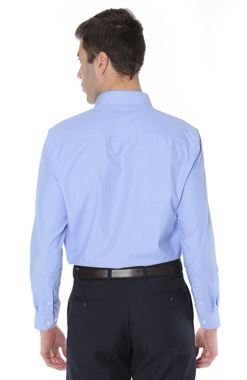 Camisa Di Sotti Comfort Enzo Azul médio