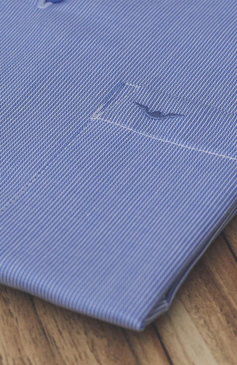 Camisa Di Sotti Comfort Fio 60 Azul Médio