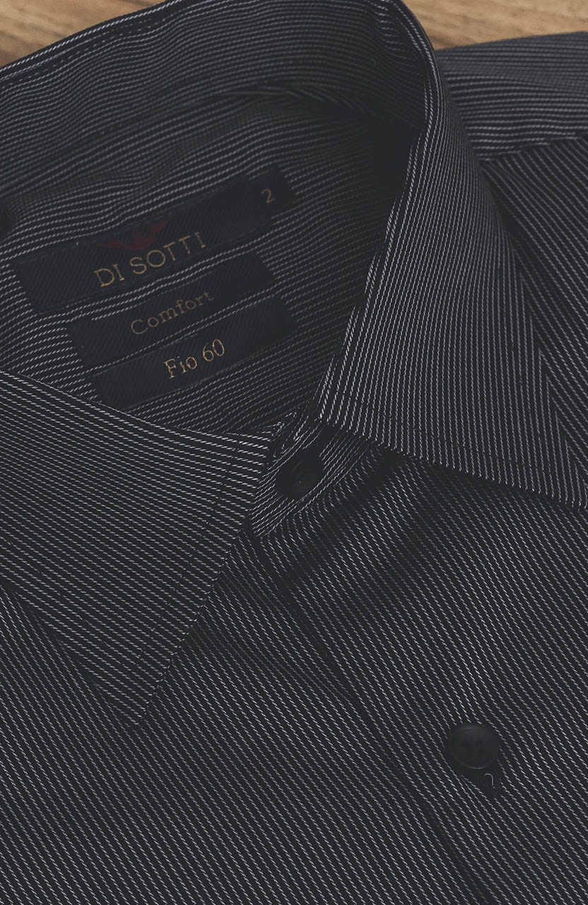 Camisa Di Sotti Comfort Fio 60 Preta