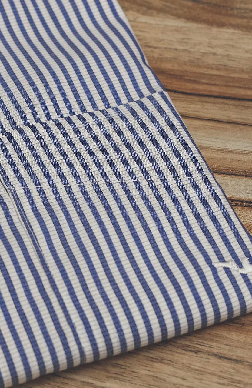 Camisa Di Sotti Comfort Fio 80 Listras Azuis