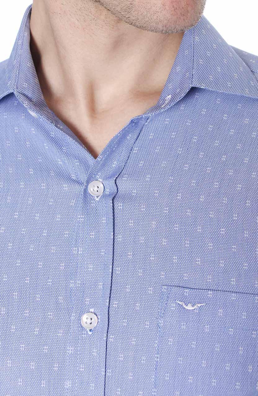 Camisa Di Sotti Comfort Parma Azul médio