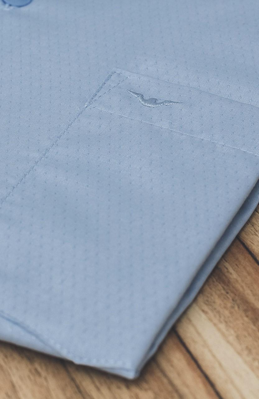 Camisa Di Sotti Manga Curta Azul Clássico
