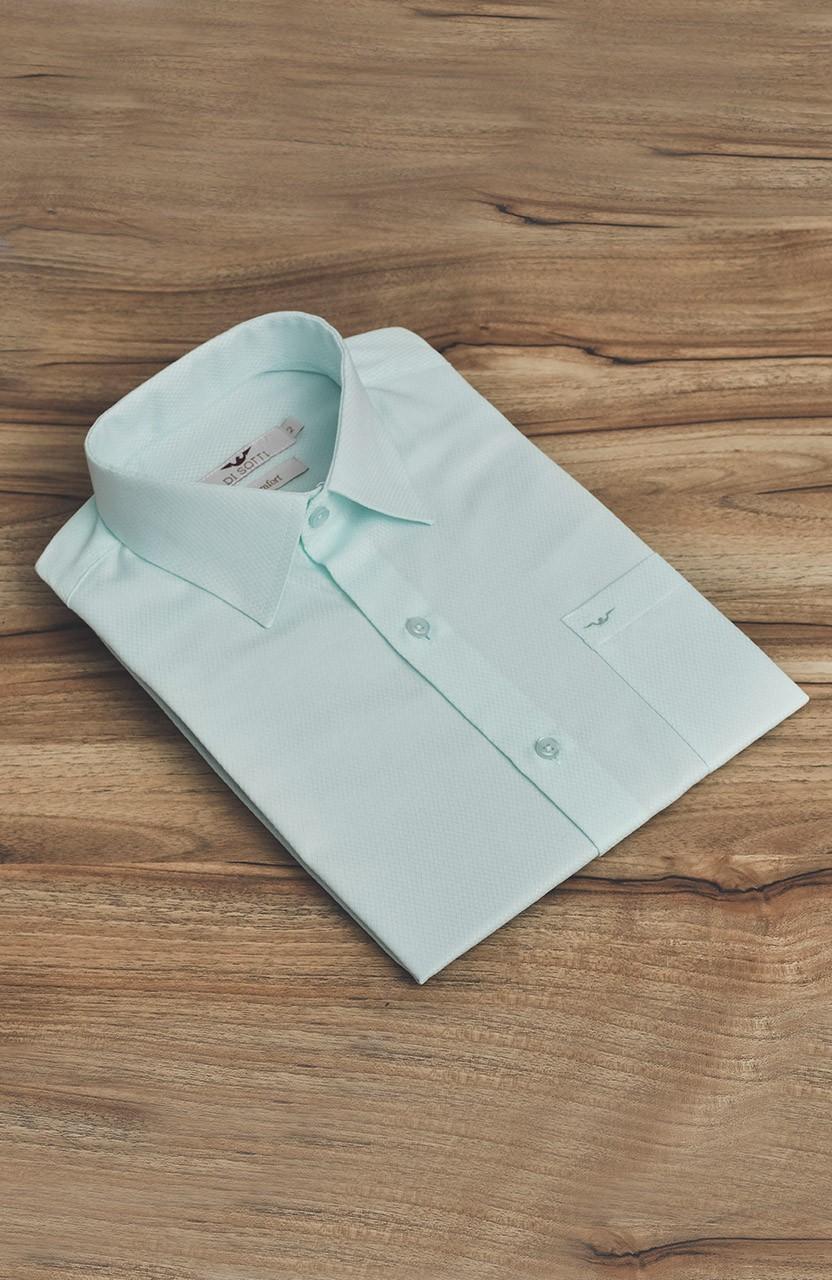 Camisa Di Sotti Manga Curta Verde Claro
