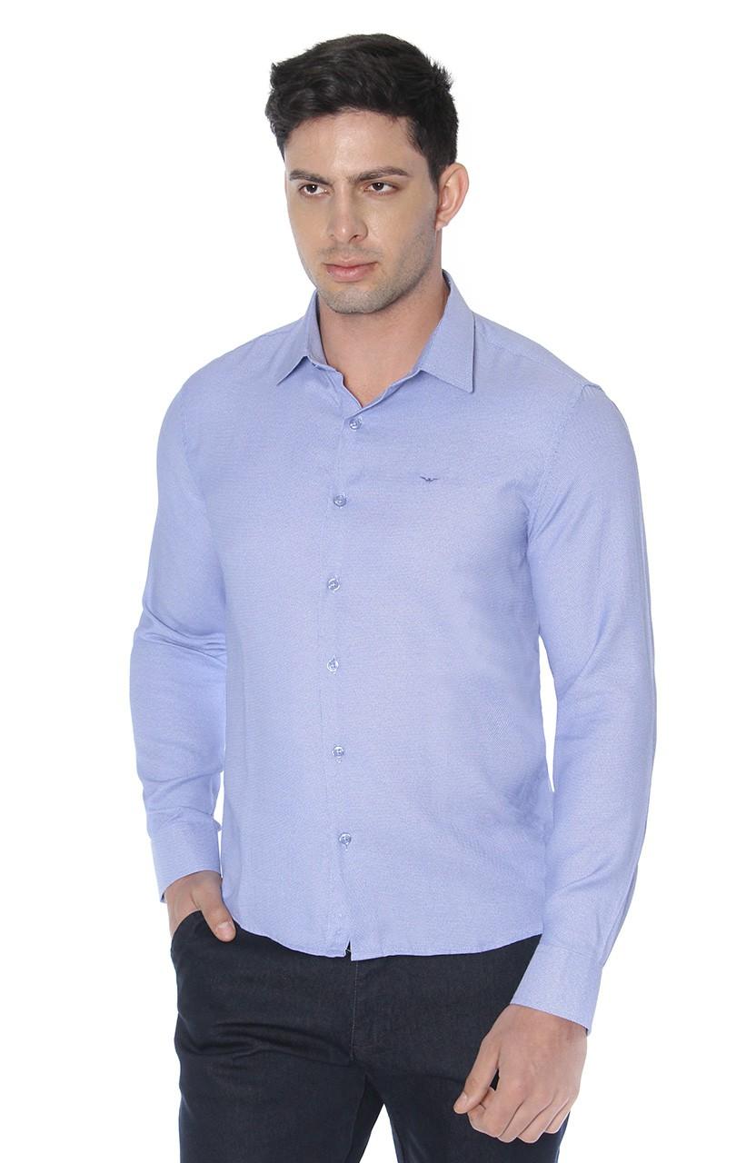 Camisa Di Sotti Slim Azul médio
