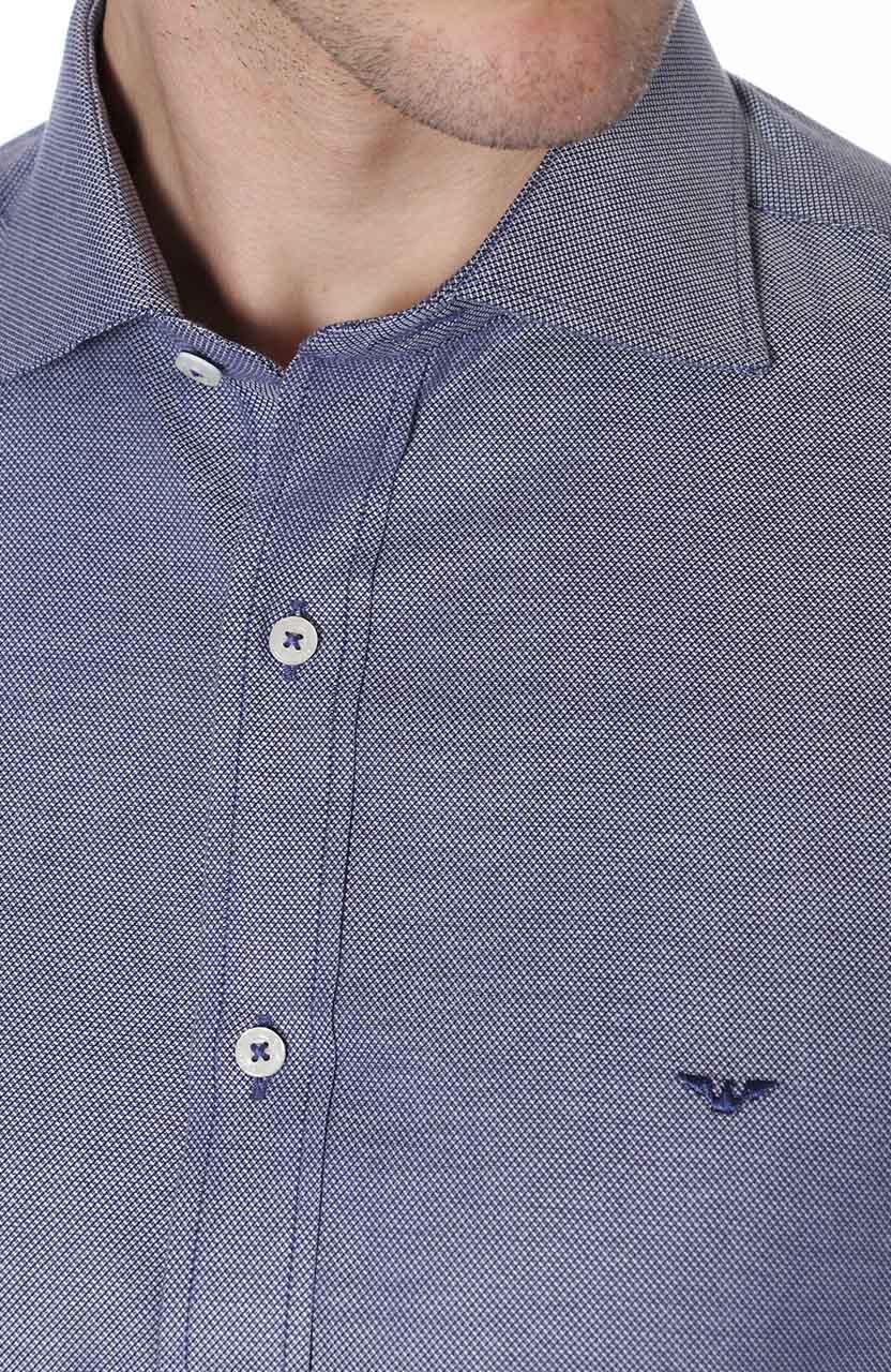 Camisa Di Sotti Slim Bis Azul Marinho