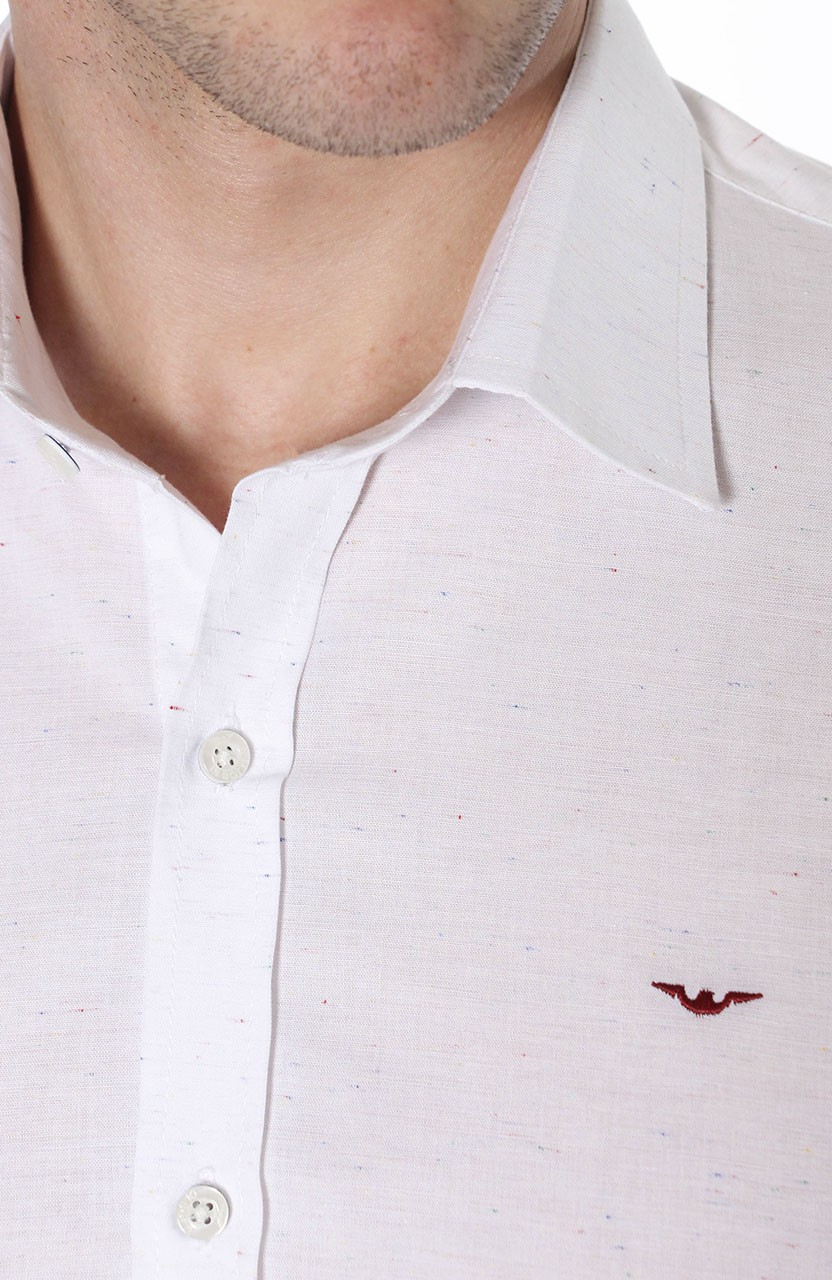 Camisa Di Sotti Slim Botone Branco