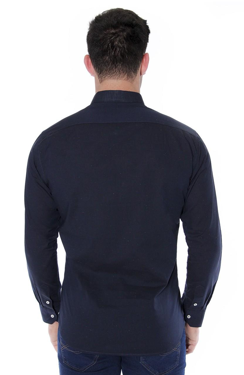 Camisa Di Sotti Slim Botone Marinho