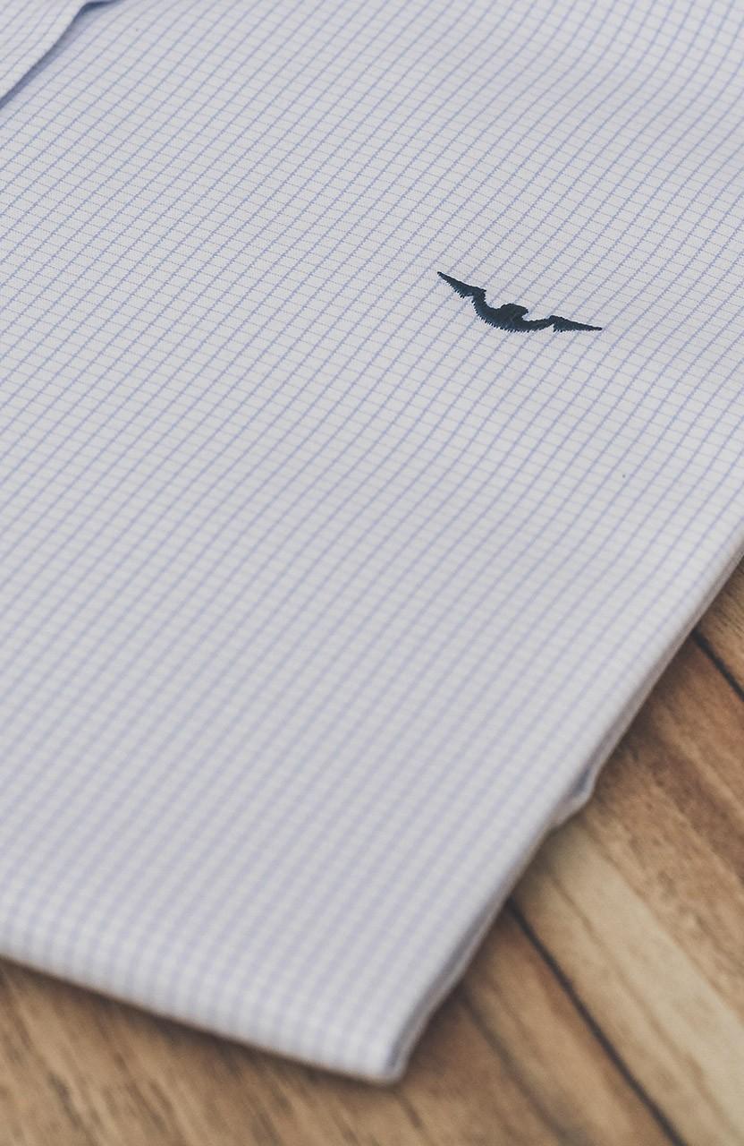 Camisa Di Sotti Slim Branco Quadriculado pequeno