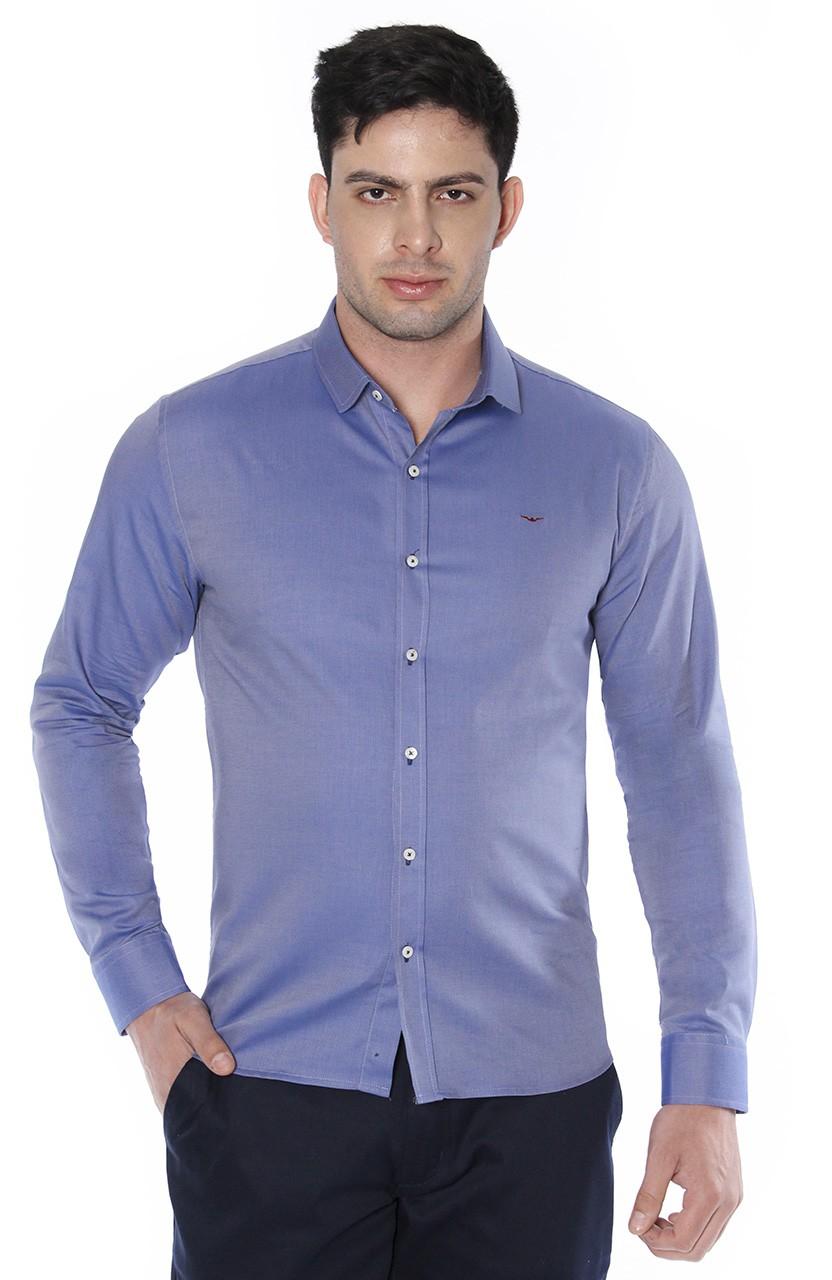 Camisa Di Sotti Slim Carrara Azul