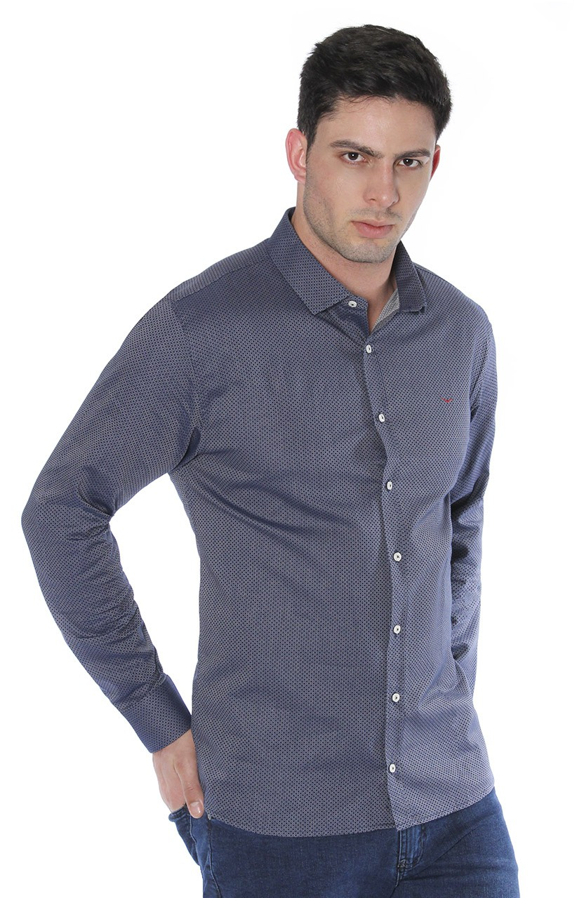 Camisa Di Sotti Slim Carrara Marinho