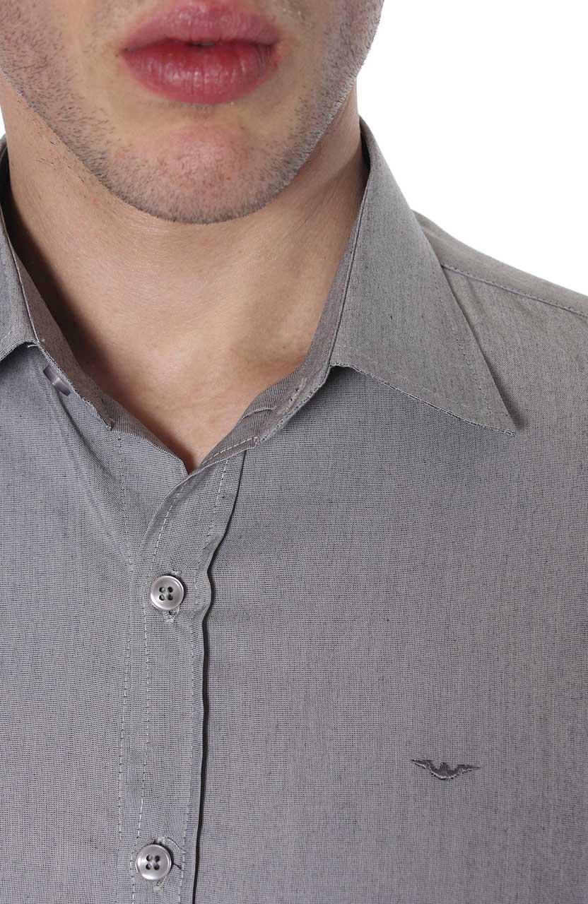 Camisa Di Sotti Slim Fil a Fil Aço