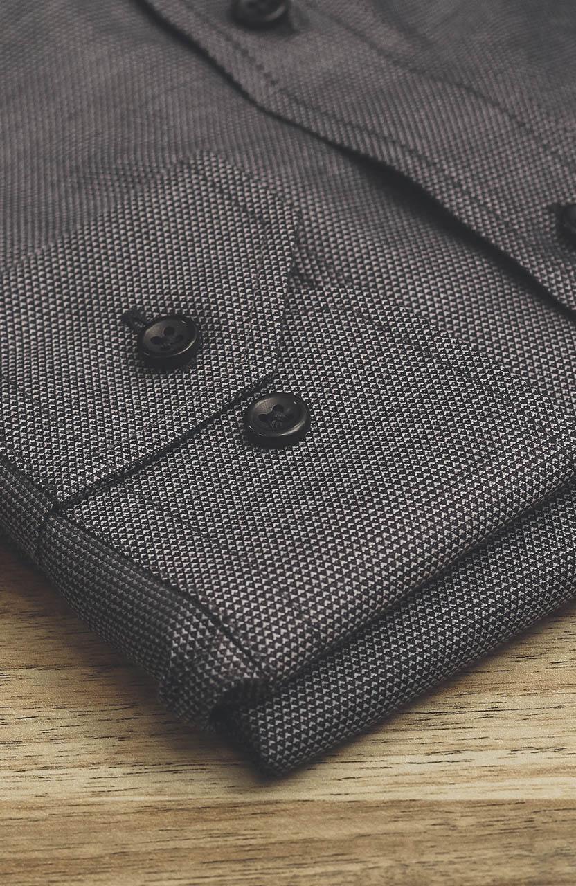 Camisa Di Sotti Slim Fio 100 Grafite