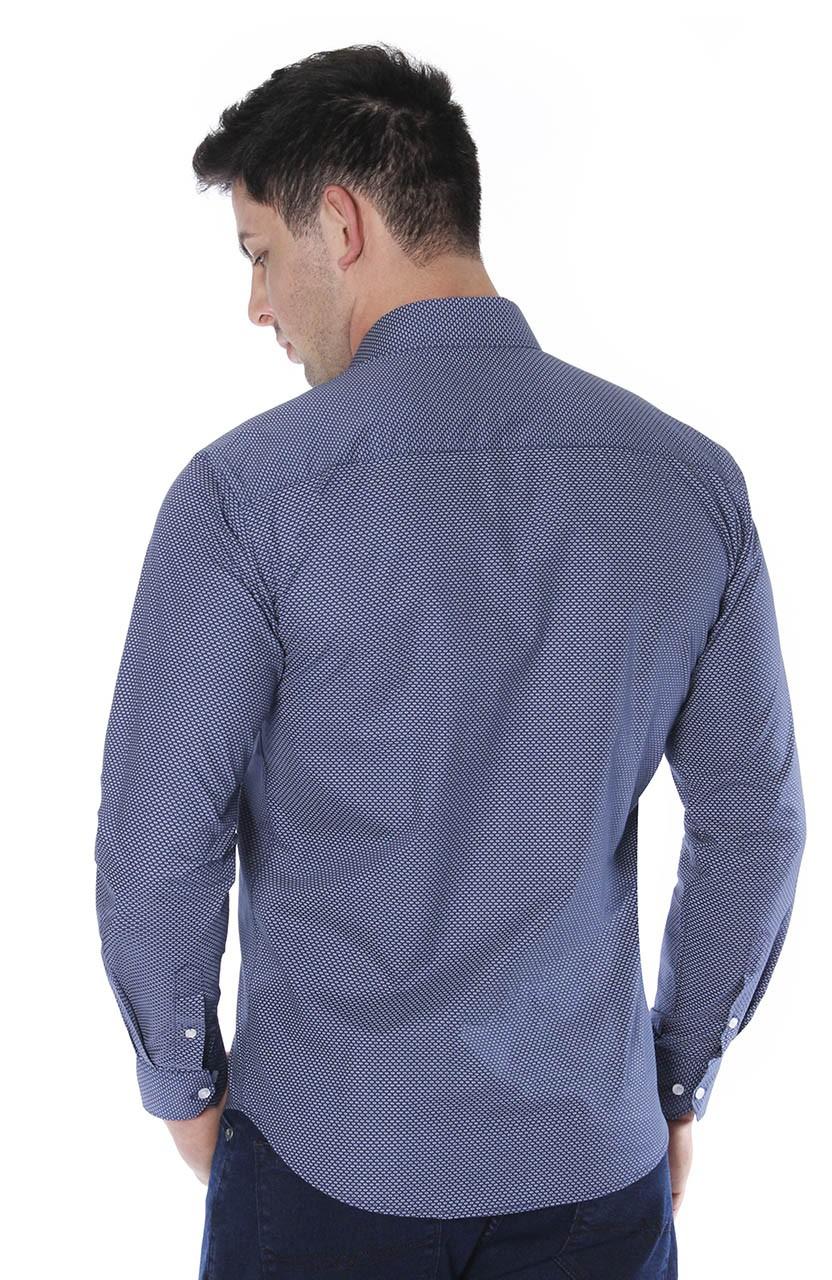 Camisa Di Sotti Slim Fio 60  Marinho