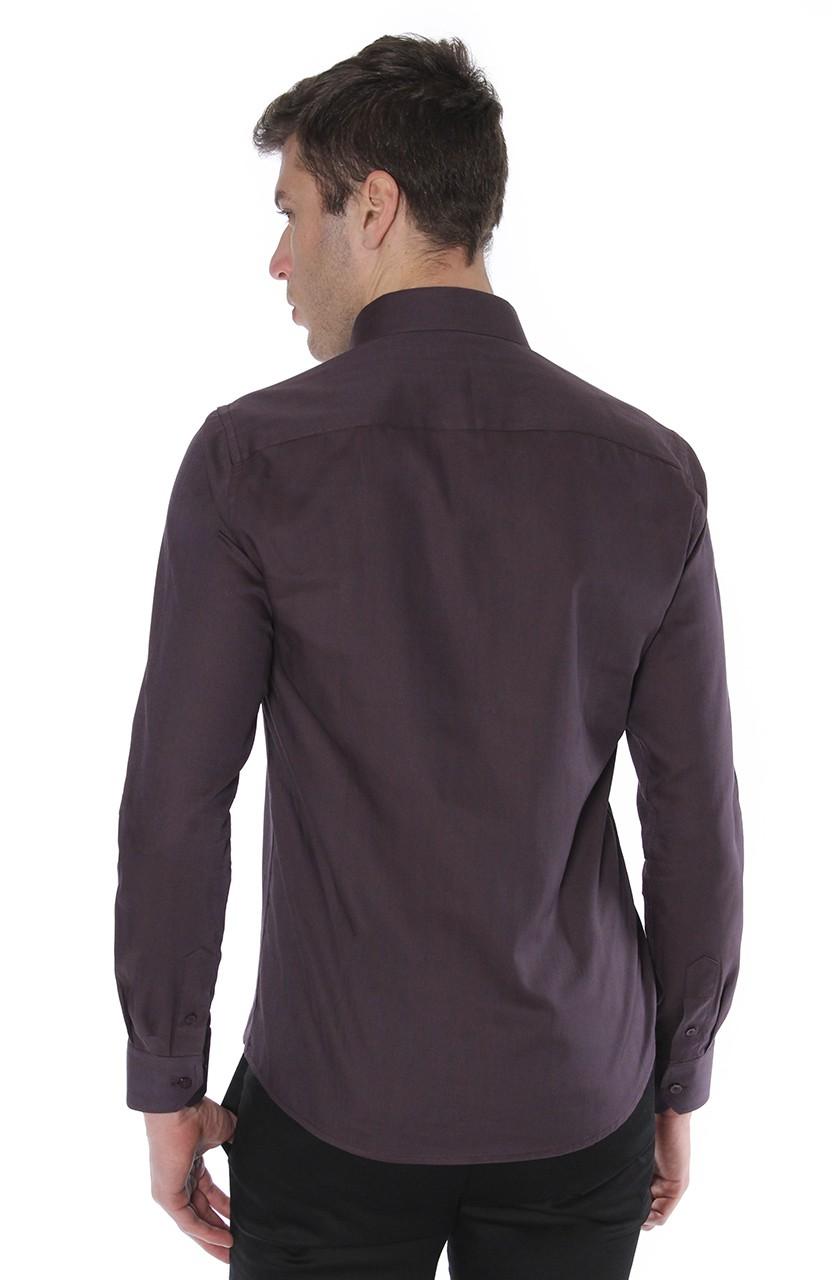 Camisa Di Sotti Slim Fio 60 Uva