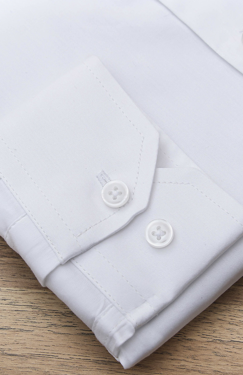 Camisa Di Sotti Slim Fit com Elastano Branca