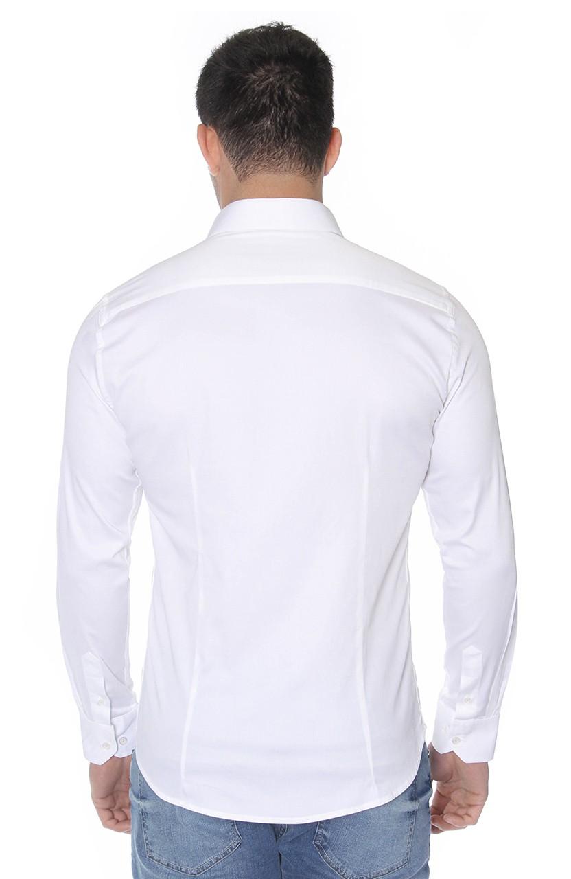 Camisa Di Sotti Slim Fit com elastano Branco