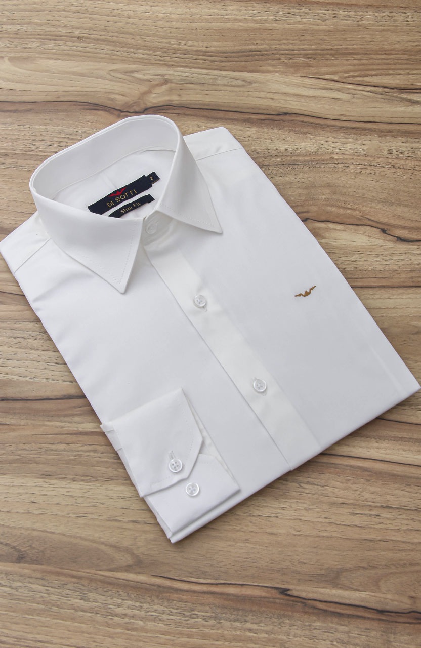 Camisa Di Sotti Slim Fit com Elastano