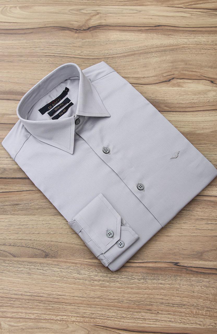 Camisa Di Sotti Slim Fit Fio 60 Elastano Gelo