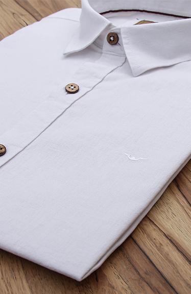 Camisa Di Sotti Slim Fit Linho Branco