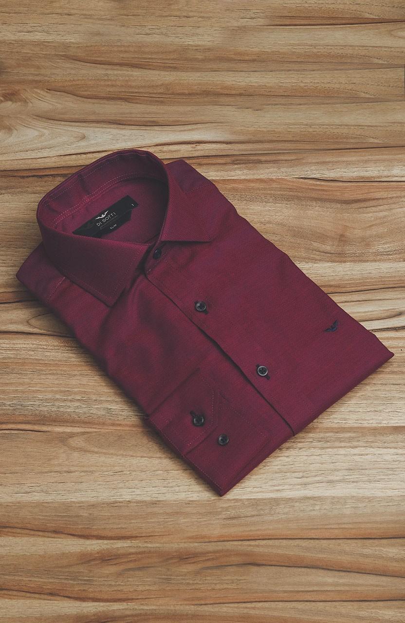 Camisa Di Sotti Slim Magenta