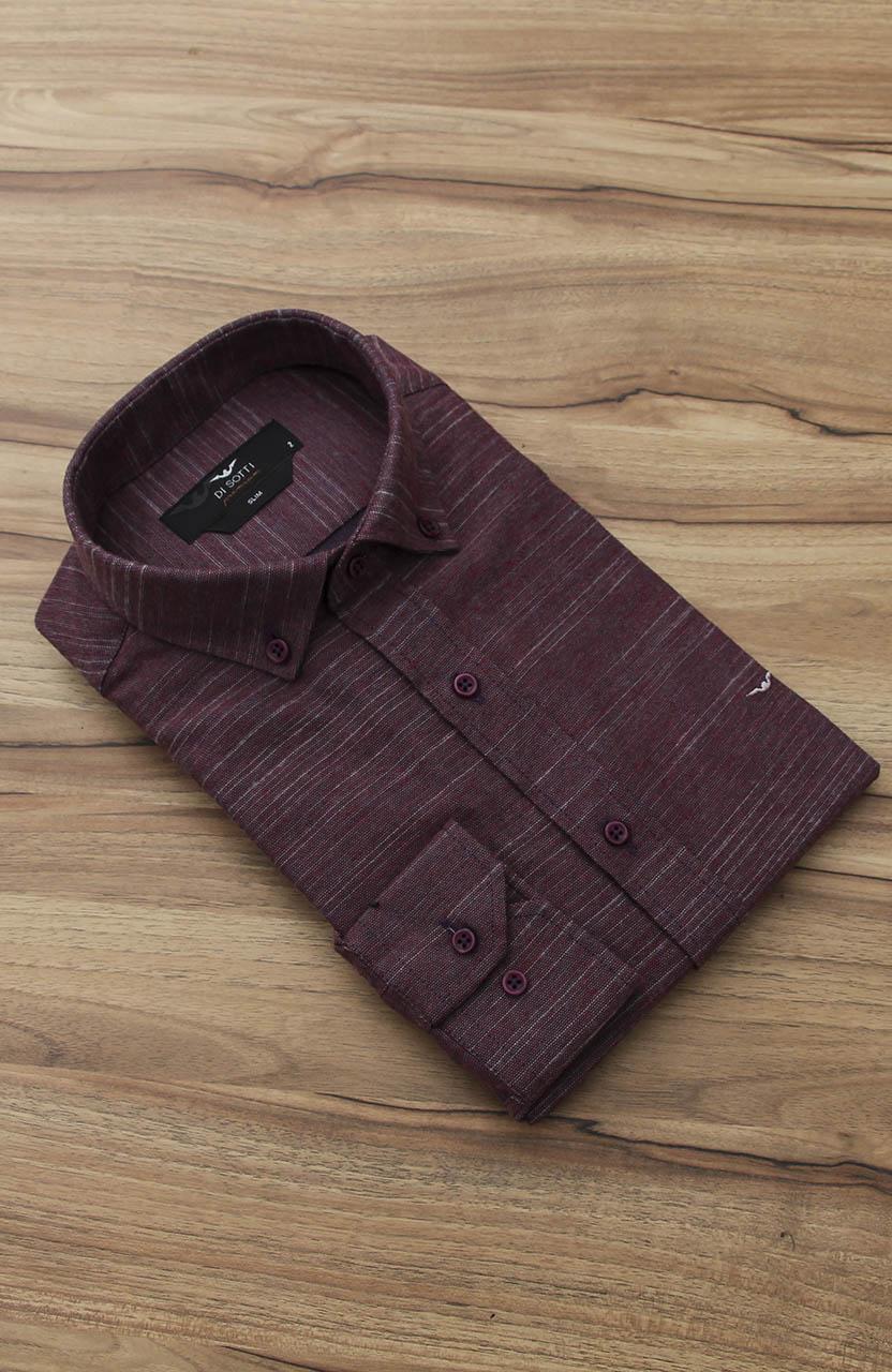 Camisa Di Sotti Slim Premium Cereja