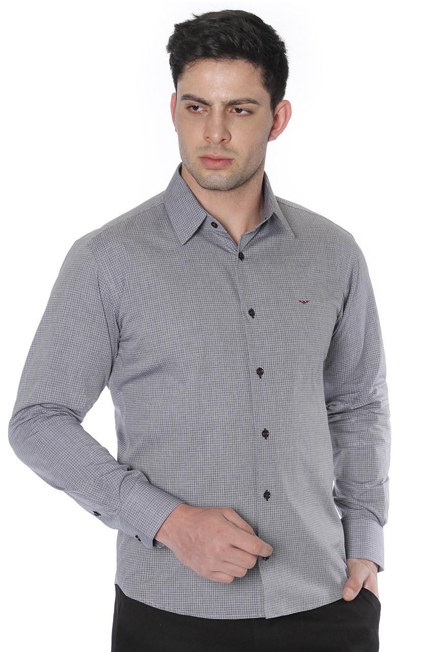 Camisa Di Sotti Slim Quadriculada Preto