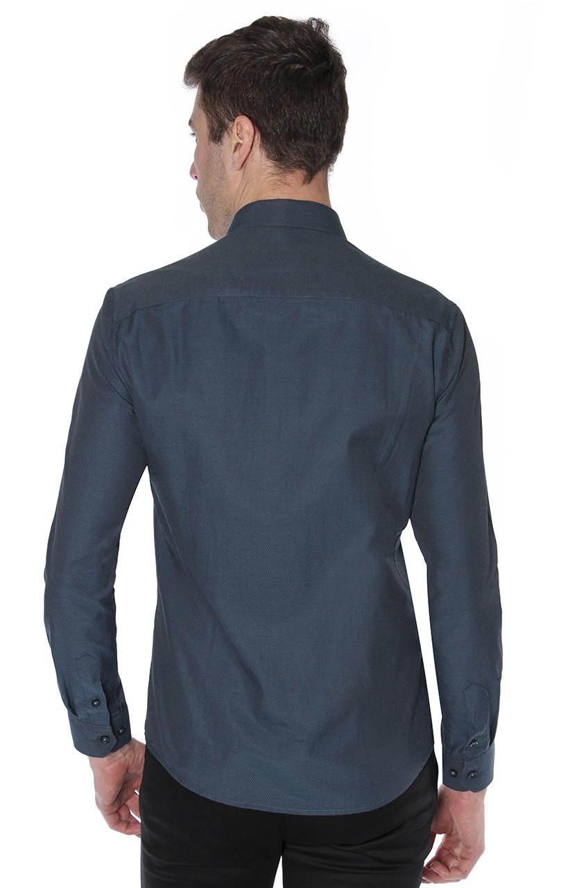 Camisa Di Sotti Slim Verde escuro