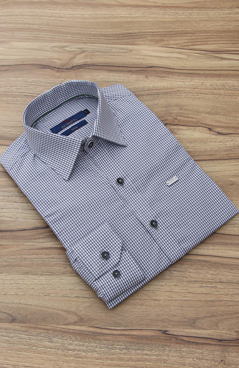 Camisa Di Sotti Slim Xadrez