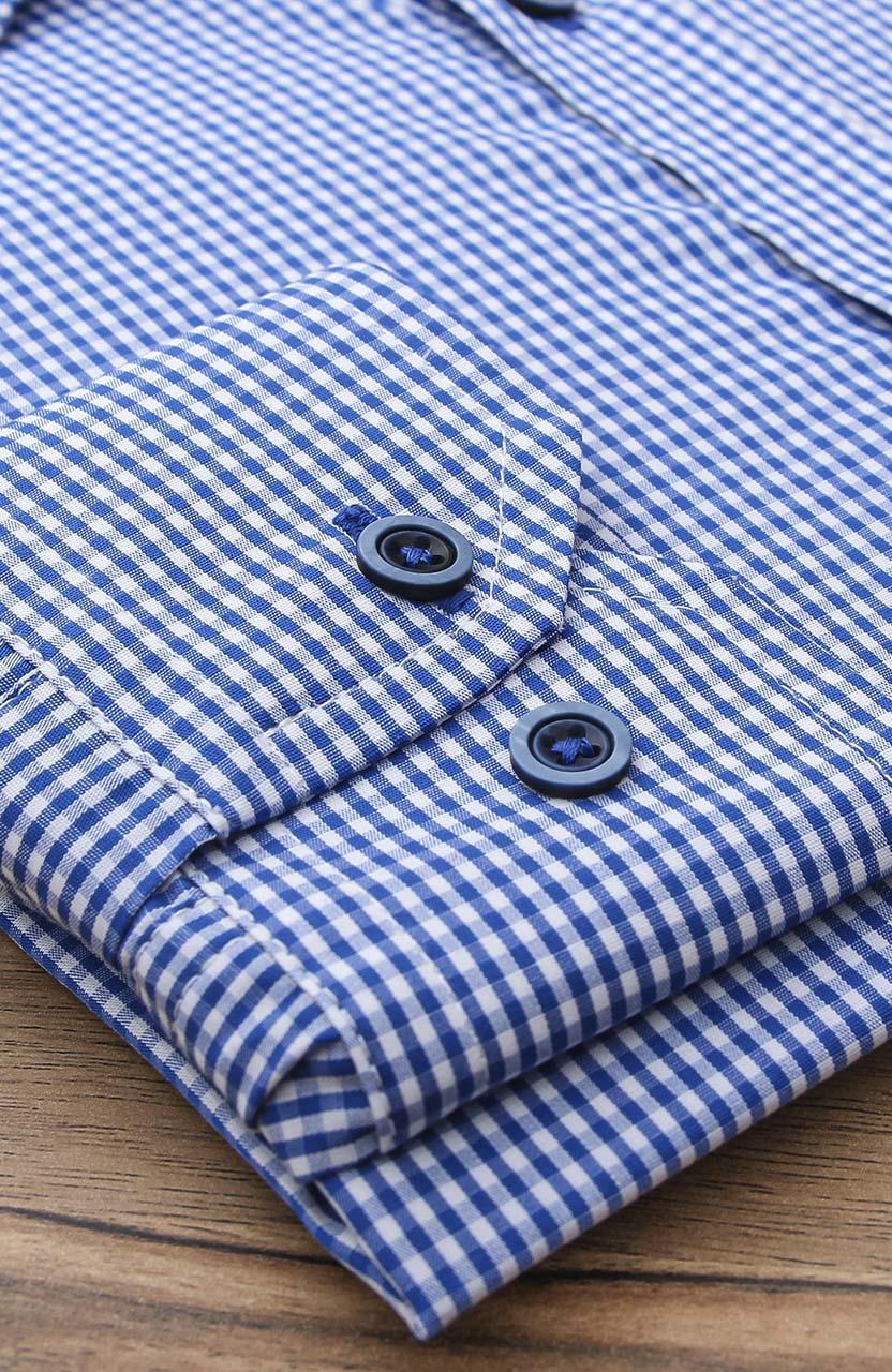 Camisa Di Sotti Slim Xadrez Mariner Blue