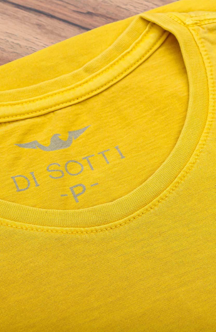 Camiseta Di Sotti T-Shirt Meia malha stonada Amarelo