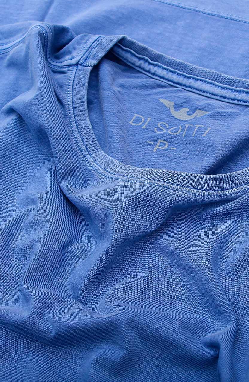 Camiseta Di Sotti T-Shirt Meia malha stonada Azul