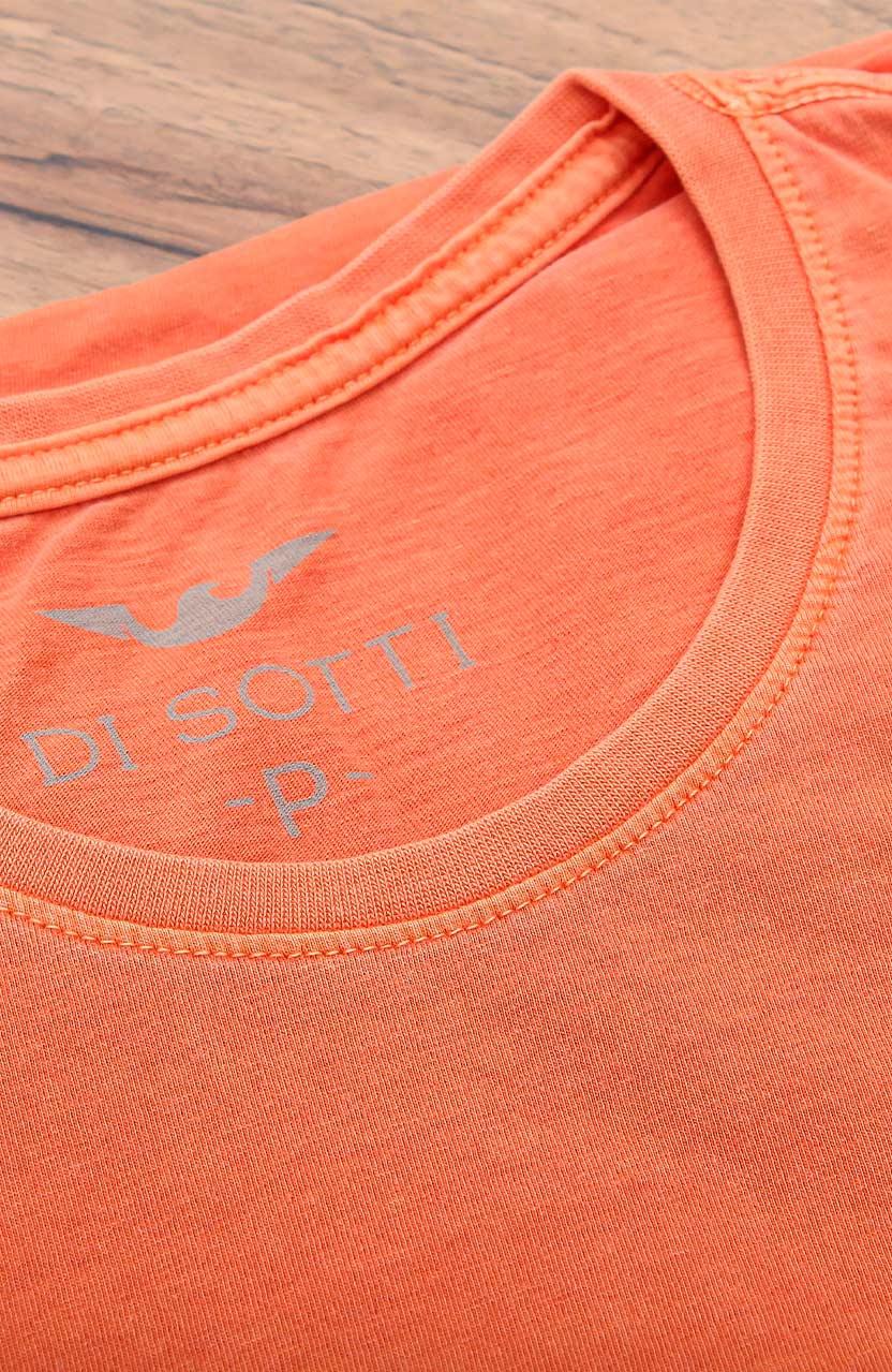 Camiseta Di Sotti T-Shirt Meia malha stonada Laranja