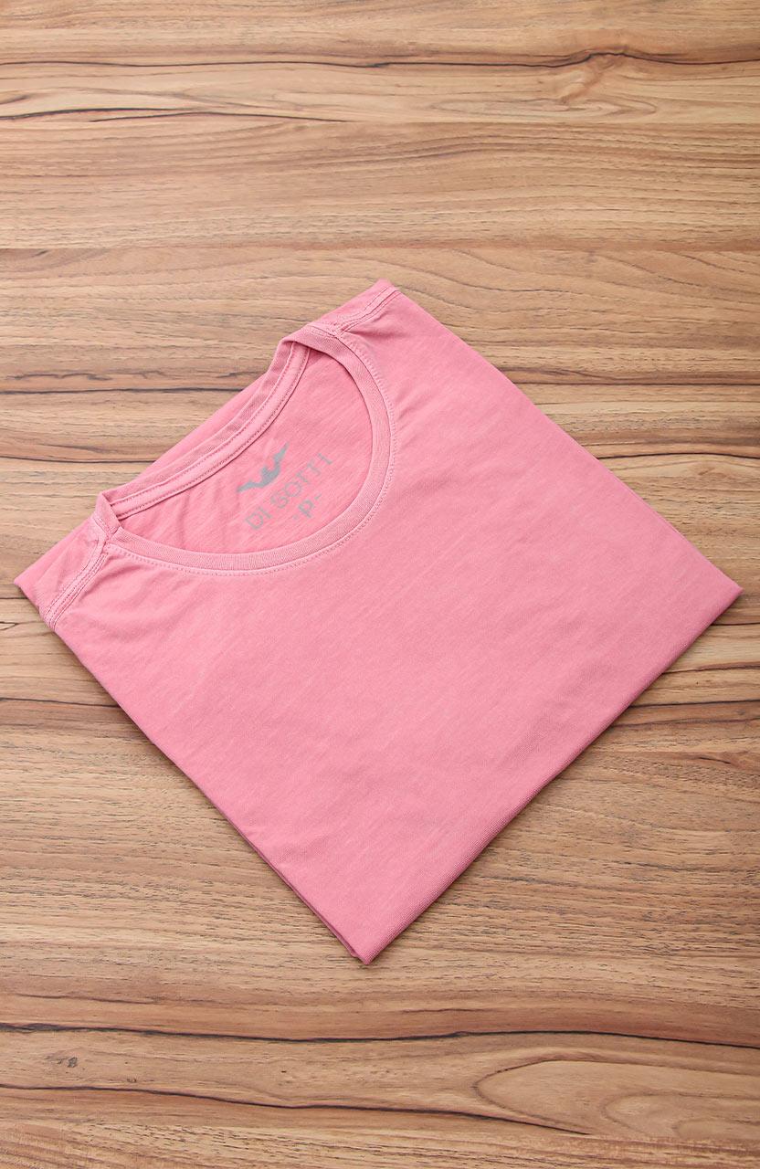 Camiseta Di Sotti T-Shirt Meia malha stonada Rose