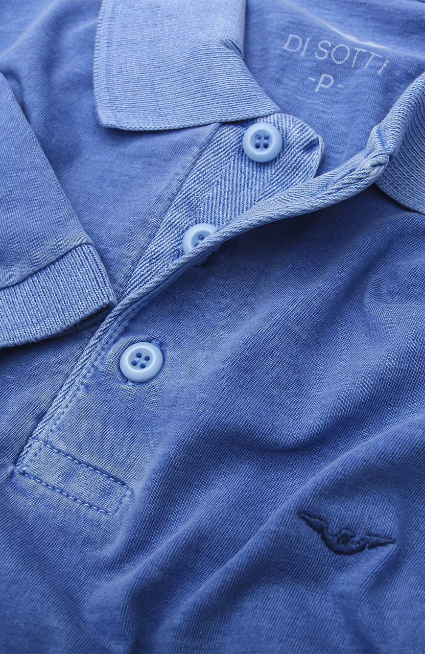 Polo Di Sotti Meia malha Stonada Blue Classic