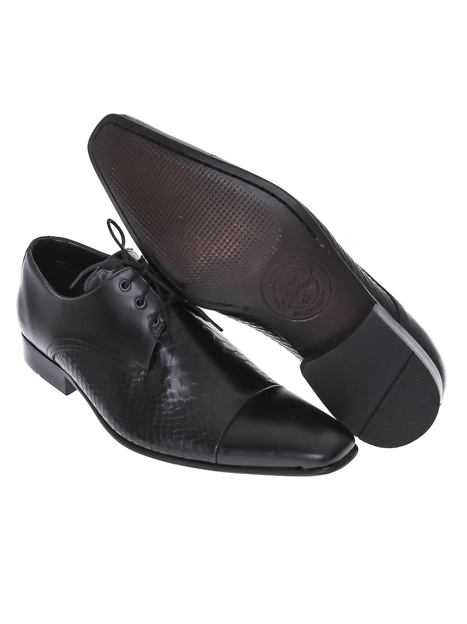 Sapato Di Sotti Social Couro desenhado