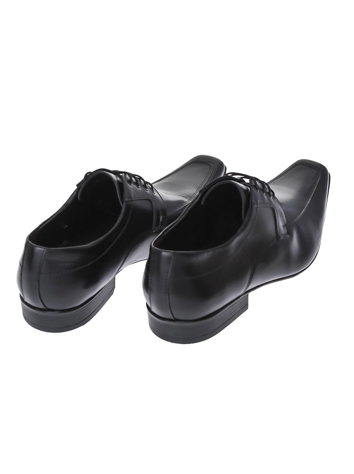 Sapato Social Couro Preto Solado Borracha