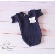 Body Bolso Júnior Newborn Azul marinho