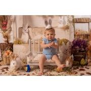 Body Capuz Acompanhamento Azul bebê