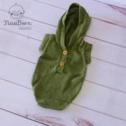 Body Capuz Newborn Verde musgo