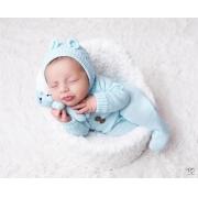 Body Jolie Newborn Azul Bebê