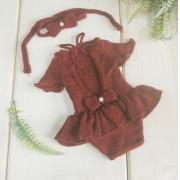 Body Vestido Cecília Newborn Marsala